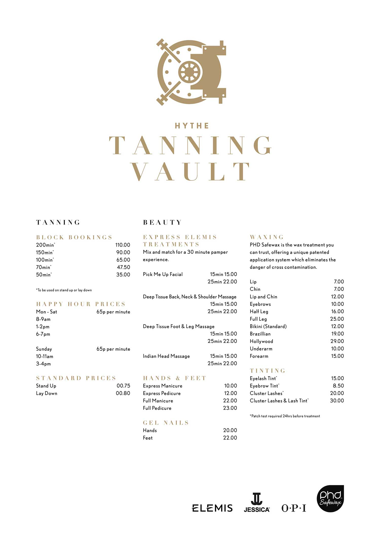 A1-Tanning-Vault-Prices Hythe Kent